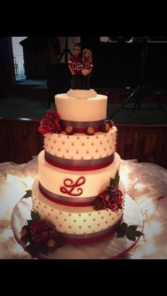 Ohio State Wedding Cake