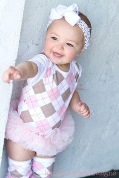 Pink Argyle Tutu Onesie I love this:)