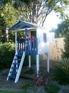 My Cubby #fort #cubby with slide #outdoor play #kids