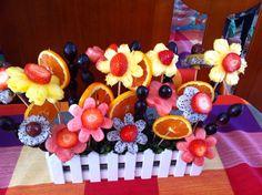 The fruit bouquet for Oksana's Rainbow Baby shower.