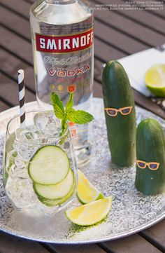 Labor Day is your last chance to get in some summer fun. The Cool as a Cucumber is the perfect cocktail for a day at the beach, a pool party or relaxing on the patio.  Easy Drinks Happy Hour   MIX 1.5 oz Smirnoff 21 Vodka, 3 oz Soda, Cucumber Slices, Mint, Twist of Lime