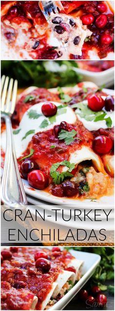 Cran-Turkey Enchiladas : a great Thanksgiving leftover idea!