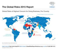 Global risks for doing business, from the Global Risk Report 2015 #map #risk