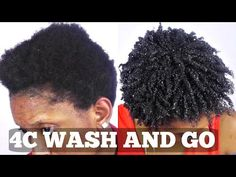 Wash and Go Short Natural 4C Hair Tutorial - YouTube