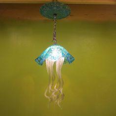 Hand Blown Glass Chandelier Jellyfish Chandelier by PrimoLighting