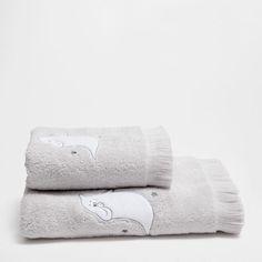 Serviette de bain coton gris fantôme - Serviettes - Bain | Zara Home France