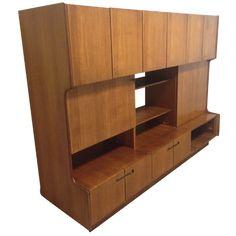 teck,teak,1960,1950,60,buffet,living,enfilade,highboard,tricoire,vecchione,vintage,danois,scandinave,france,rangement,bibliothéque,tiroirs