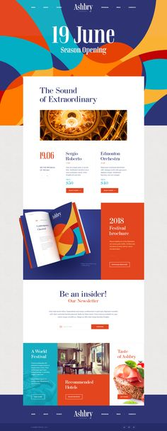 Ashbry Music Festival – Ui design concept and visual identity by Mike | Creativemints