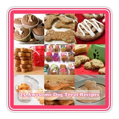 Awesome Homemade Dog Treats and more The Cottage Market: 25 Awesome Dog Treats Recipes! (i think kitty might like some of these.)The Cottage Market: 25 Awesome Dog Treats Recipes! (i think kitty might like some of these. Puppy Treats, Diy Dog Treats, Homemade Dog Treats, Dog Treat Recipes, Healthy Dog Treats, Dog Food Recipes, Horse Treats, Family Recipes, Dog Cookies