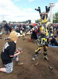 """@BobertLees shared this on Twitter """"Getting knighted at last year's Download""""!  Check out some of the #rock #festivals we have on offer here: http://festkt.co/7tila2"""