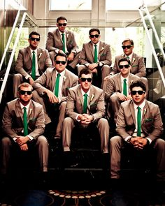 Great groomsmen picture. I just love this.