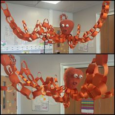 Under the sea topic... Eyfs... Octopus... Display..