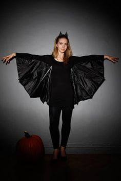 DIY bat costume--10-31-2012 I tried this. It did not work for me. My husband helped and we finally gave up. Alas. Off to the costume store tomorrow for wings.