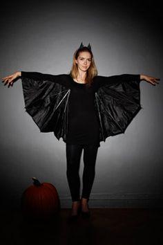 Adult bat costume using umbrella.