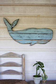 "Wooden Sea Creatures Dimensions (in):Whale - 30"""" x 17""""t By Kalalou - Kalalou is a wholesale manufacturer of distinctive home & garden decorative accessories. Usually ships within 3 Business Days Ple"