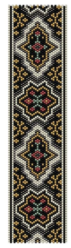 Delia Peyote Stitch Pattern Count: Odd Length: 6.99inches Width: 1.75 inches Colors: 6 This pattern was made using Miyuki Delica seed beads in size 11. For the pattern download, you will always receive the colorway bead list for the pattern shown in the listing photo diagram.