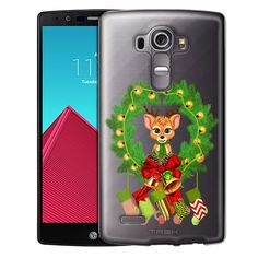 LG G4 Cute Reindeer in Wreath with Stockings Case