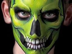 a great monster face painting face painting pinterest monster face painting and monsters - Scary Face Paint Ideas For Halloween