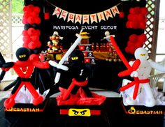 Ninjago Party by Mariposa Event Decor https://www.facebook.com/mariposaeventdecor