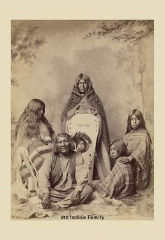 Ute Indian Family