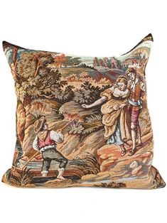 French Tapestry Pillow by My Vintage Pillow Designer Pillow, Pillow Design, Tailoring Techniques, Next At Home, Vintage Pillows, Handmade Shop, Tapestries, Dressmaking, Fit And Flare