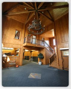 A 2012 Visit with Hunter Harrison – Equestrian Living Equestrian Stables, Horse Stables, Horse Barns, Old Barns, Dream Stables, Dream Barn, Horse Barn Plans, Horse Property, Horse Ranch