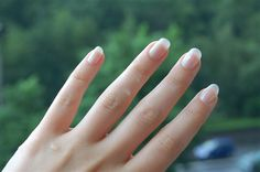 Rub a nail brush over white chalk, then rub it under the tips of your fingernails. Your manicure will be looking fresh and clean in no time....