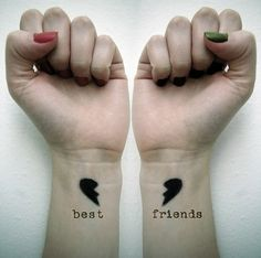 """33 tattoo ideas for you to share with your best friend - As Gossip Girl would s. - 33 tattoo ideas for you to share with your best friend – As Gossip Girl would say: """"Shoulders - Bff Tattoos, Wrist Tattoos Girls, Bestie Tattoo, Cute Tattoos On Wrist, Great Tattoos, Trendy Tattoos, Small Tattoos, Tatoos, Amazing Tattoos"""