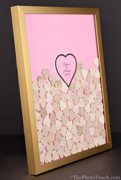Wedding Frame with Wooden or Color Drop In Top by WeddingGuestbook, $135.00
