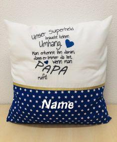 """Freue mich, euch diesen Artikel aus meinem Shop bei #etsy vorzustellen: Kissen+Bezug- 𝘮𝘪𝘵 𝘕𝘢𝘮𝘦𝘯 𝘣𝘦𝘴𝘵𝘪𝘤𝘬𝘵 """"𝙎𝙪𝙥𝙚𝙧𝙝𝙚𝙡𝙙"""" Geschenke für Papa/Opa Throw Pillows, Etsy, Velvet, Dad Birthday, Names, Cushion, Gifts, Cushions, Decorative Pillows"""