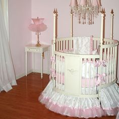 Miss Princess Round Crib Bedding Set