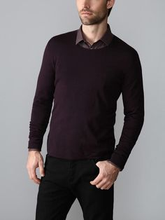 Wool Reverse Sweater by John Varvatos on Gilt.com