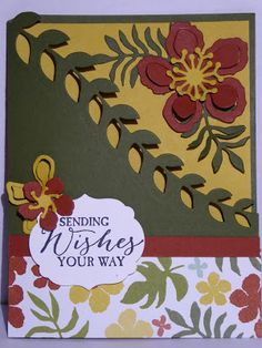 Botanical Garden by Stampin Up along with Butterfly Basics, Enjoy and visit me at http://thescrappingqueen.blogspot.com/2016/03/botanical-garden.html