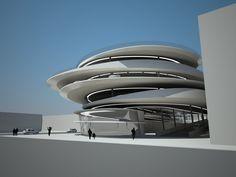 Legendary Architect Zaha Hadid Chosen to Design Miami Beach Parking Garage at Collins Park. Zaha Hadid Architecture, Architecture Unique, Futuristic Architecture, Landscape Architecture, Interior Architecture, Landscape Design, Chinese Architecture, Architecture Portfolio, Zaha Hadid Buildings