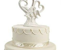 Ceramic heart and doves Wedding Cake Topper www.tiny-treats.co.uk