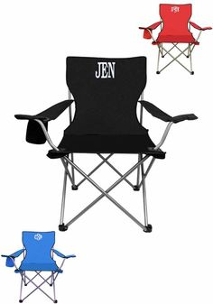These monogrammed chairs are a MUST for sports!
