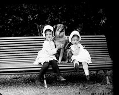 History in Photos: Vintage Ireland. Edith (on the left) and Ethel Dillon, daughters of Baron Clonbrock, at Clonbrock Estate in Ahascragh, Co. Ireland Vacation, Ireland Travel, Vintage Dog, Vintage Children, Vintage Black, Traditional Irish Girl Names, Irish First Names, Irish Girls, Irish Traditions
