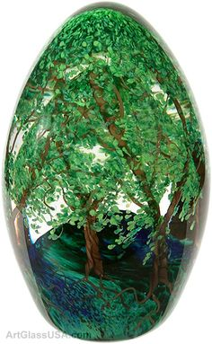 Art Glass Tree Egg by Cathy Richardson