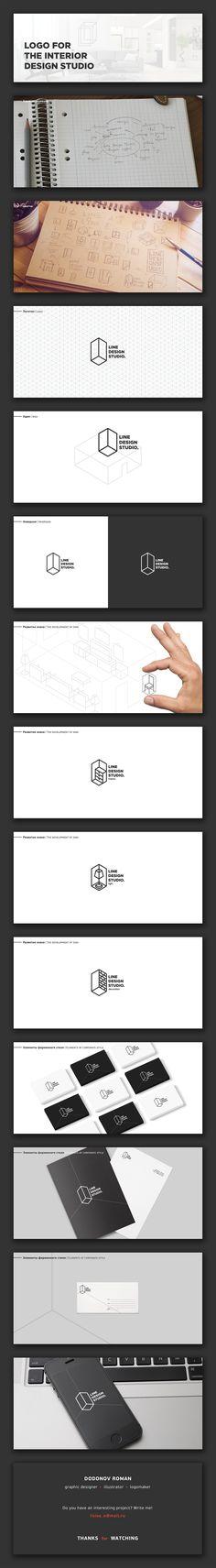 Logo for the interior design studio on Behance . Logo for the interior design studio on Behance Má Visual Design, Creative Design, Studio Logo, Typo Logo, Logo Branding, Web Design Mobile, Geometric Logo, Picture Logo, Interior Design Studio