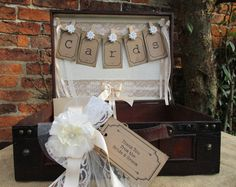 Wedding Card Holder Suitcase Post Box Handmade by TheIvoryBow