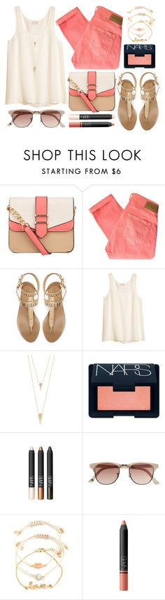 """""""Coral Summer"""" by poppyy-92 ❤ liked on Polyvore featuring 10 Bells, Maison Scotch, Zara, H&M, Jules Smith, NARS Cosmetics, Witchery and Charlotte Russe"""