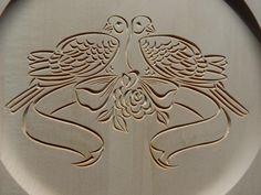 "14"" wedding plate, chip carved - by MyChipCarving @ LumberJocks ..."