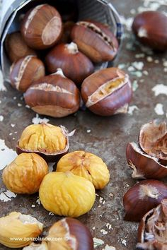 """Caldarroste"""" - After a Sunday dinner of homemade pasta on a winter's day. Roasted Chestnuts, Wie Macht Man, Beautiful Fruits, Homemade Pasta, Fruit And Veg, Fresco, Gourmet Recipes, Italian Recipes, Food Photography"""
