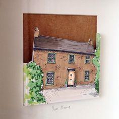 Personalised pop-out paper cut House Portrait Cut Paper, Paper Cutting, House Illustration, Illustrations, Pop Out, Personalised Gifts, Bespoke, How To Draw Hands, Portraits