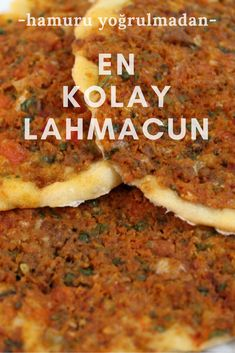 Simplest Lahmacun (knead without dough) the the # Hamurişitarif of the the the I on I # Is sunumöneml Simplest Lahmacun (knead without dough) the the Lebanese Recipes, Turkish Recipes, Italian Recipes, Pizza Recipes, Lunch Recipes, Meat Recipes, Cake Recipes, Comida Armenia, Turkish Sweets