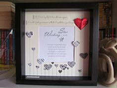 Love Wedding Valentine's Day GIft Shadow box by WishingStarByCris