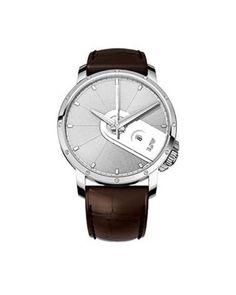 RSW  6340.BS.A9.5.D0 - Reloj de cuarzo para hombre, con correa de cuero, color marrón