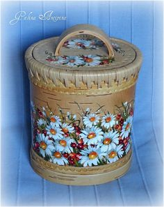 large (4) (550x700, 437Kb) Cardboard Crafts, Wooden Crafts, Western Homes, Birch Bark, Tole Painting, Wooden Boxes, Bird Houses, Folk Art, Decorative Boxes