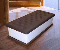 Ice Cream Sandwich BenchIce cream sandwiches aren't just delicious, they're also incredibly stylish and comfortable to sit on. The ice cream sandwich bench is the delectable looking piece of furniture. Bench Furniture, Funky Furniture, Unique Furniture, Office Furniture, Cream Furniture, Furniture Dolly, Steel Furniture, Woodworking Furniture, Custom Furniture