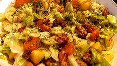 Młoda kapusta po chłopsku - czyli wiosenny jednogar w 30 minut ; Penne, Vegetable Pizza, Sprouts, Risotto, Cauliflower, Macaroni And Cheese, Vegetables, Ethnic Recipes, Food